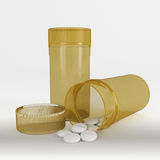 Pharmaceutical drug or pill canister. Pill container with no label Royalty Free Stock Images