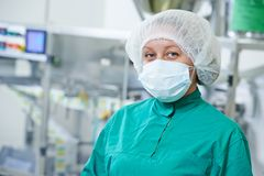 Pharmaceutical factory tablet production Royalty Free Stock Photography