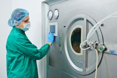 Pharmaceutical factory tablet production Royalty Free Stock Images