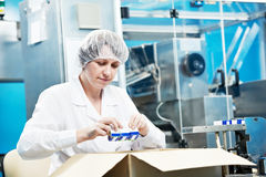 Pharmaceutical factory worker Royalty Free Stock Images