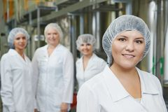 Pharmaceutical factory workers Royalty Free Stock Images