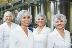 Pharmaceutical factory workers stock photo