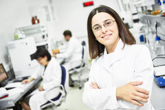 Pharmaceutical female staff worker in uniform Royalty Free Stock Photos