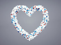Pharmaceutical heart icon Stock Images