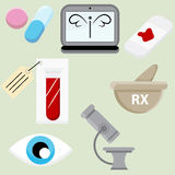 Pharmaceutical Icon Set Stock Photo