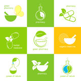 Pharmaceutical icons Stock Photo