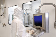 Pharmaceutical industry Stock Image