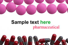 Pharmaceutical madicine capsule Royalty Free Stock Photos