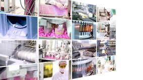 Pharmaceutical Manufacturing - Collage Stock Image