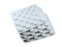Pharmaceutical medical drugs isolated Stock Photography