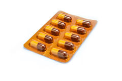 Pharmaceutical medicament, cure in container for health.  Concep Stock Photo