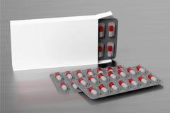 Pharmaceutical Packaging Mockup - 3d rendering vector illustration