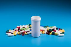 Pharmaceutical pill and tablets Royalty Free Stock Photography