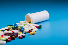 Pharmaceutical pill and tablets Stock Image