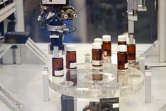 Pharmaceutical production. Drug manufacturing production process in pharmaceutical factory Stock Photos