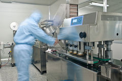 Pharmaceutical production line Stock Photography