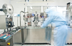 Pharmaceutical production line Royalty Free Stock Image