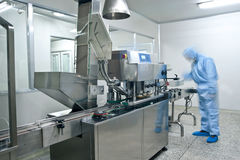 Pharmaceutical production line Royalty Free Stock Photo