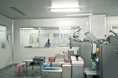 Pharmaceutical production line Royalty Free Stock Photography