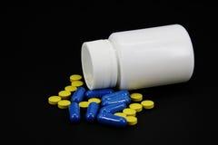 Pharmaceutical Products. On black background Stock Photo