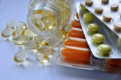 Pharmaceutical products (pills) Royalty Free Stock Photos