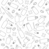 Pharmaceutical products seamless pattern Royalty Free Stock Image