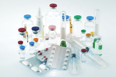 Pharmaceutical products. Some kind of Pharmaceutical products Royalty Free Stock Photo