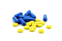 Pharmaceutical Products. On white background Royalty Free Stock Photography