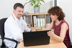 Pharmaceutical Sales Representative at office have meeting Royalty Free Stock Photos