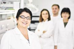 Pharmaceutical staff workers in uniform Royalty Free Stock Photos