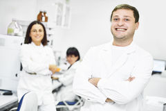 Pharmaceutical staff workers in uniform Stock Image