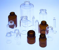 Pharmaceutical vials Royalty Free Stock Images