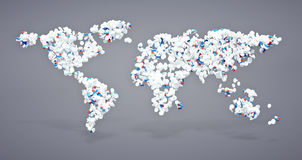Pharmaceutical world icon Stock Images