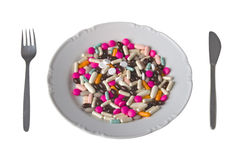 Pharmaceuticals like piece de resistance Royalty Free Stock Images