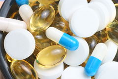 Pharmaceutiques macro photos stock