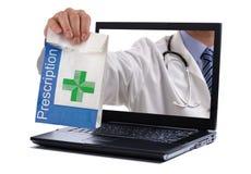 Pharmacie d'Internet Photo stock