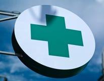 Pharmacie de signe   Image libre de droits