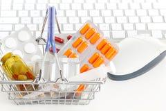 Pharmacie en ligne image stock