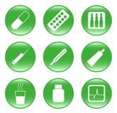 Pharmacie - graphismes de Web de vecteur (boutons) Image stock