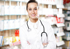 pharmacienne de femme Image stock
