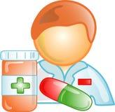 Pharmacist career icon or symb Royalty Free Stock Image
