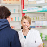 Pharmacist in a consultation Stock Photo