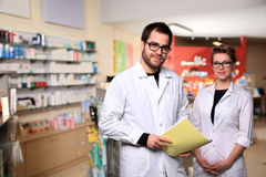 Pharmacist couple Royalty Free Stock Images