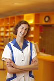 Pharmacist with crossed arms Royalty Free Stock Images