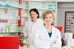 Pharmacist with crossed arms Stock Images