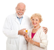 Pharmacist and Customer Royalty Free Stock Photo
