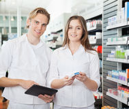 Pharmacist with Digital Tablet Royalty Free Stock Photo