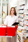 Pharmacist with Digital Tablet Prescription Royalty Free Stock Photography