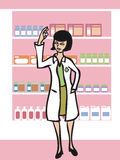 Pharmacist in drugstore Stock Images