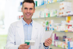 Pharmacist in drugstore Stock Photos